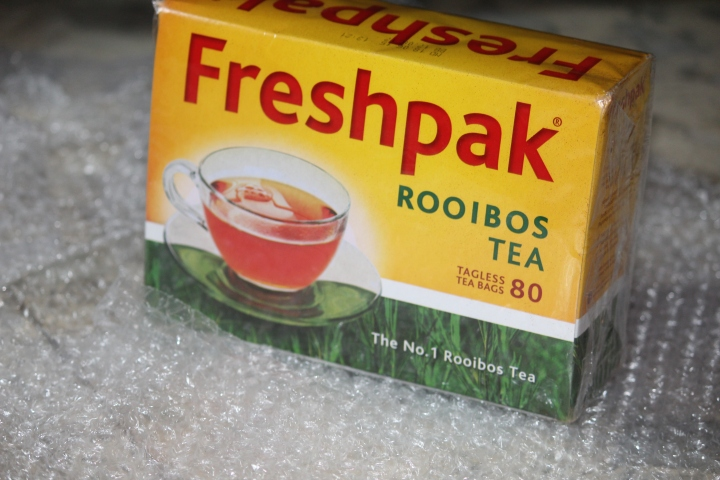 Rooibos Tea pack, picked up from pick n pay store.